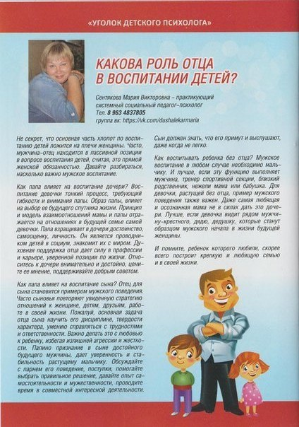 Какова роль отца в воспитании детей?На основе